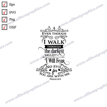 I Will Not Fear | Best Cool Quotes Christmas DesignCut files