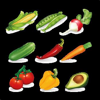 Kitchen farm fruits & vegetables digital set  - Food clipart free download 2400x2400 png