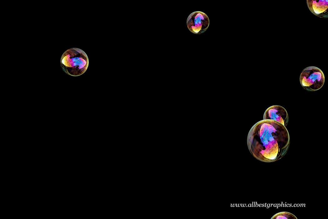 Awesome bathroom soap bubbles on black background | Bubble Photo Overlay