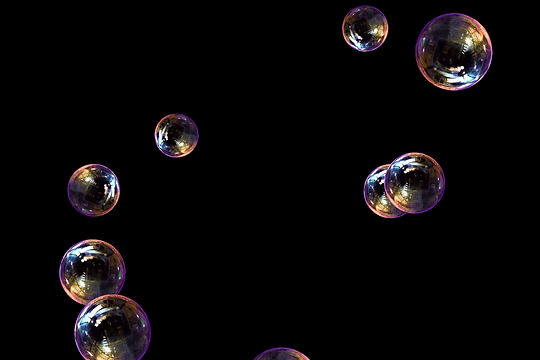Unbelievable realistic soap bubbles on black background   Overlay for Photoshop