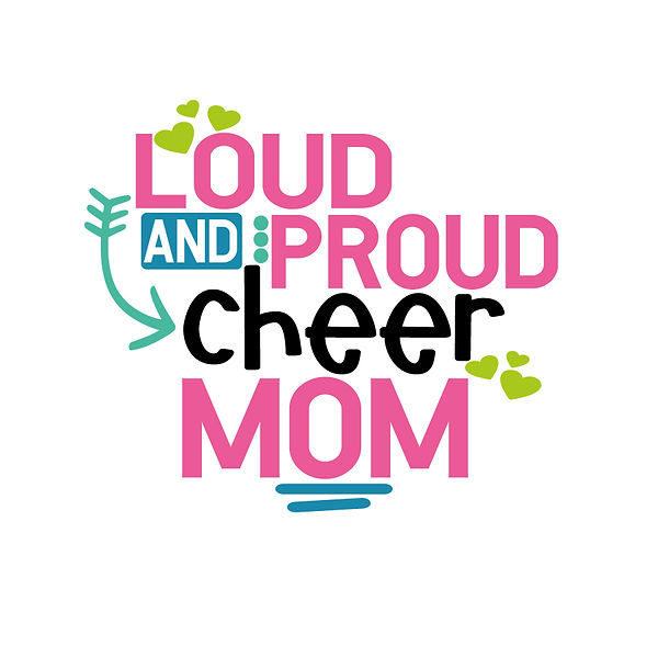 Loud and proud cheer mom Png | Free download Printable Cool Quotes T- Shirt Design in Png