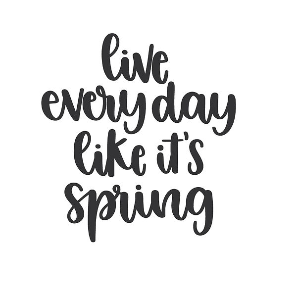 Live every day like it's spring Png   Free download Printable Sarcastic Quotes T- Shirt Design in Png