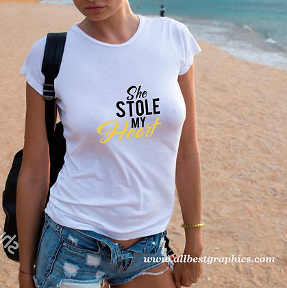 She stole my heart | Cool T-Shirt QuotesCut files inEps Svg Dxf