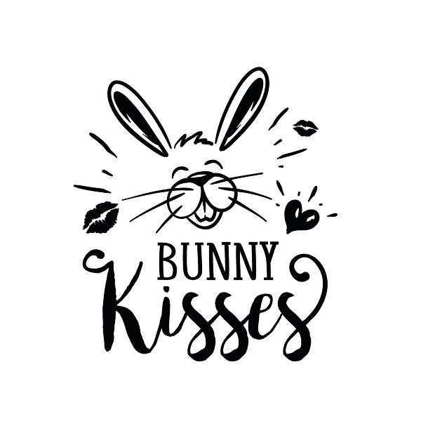 Bunny kisses  | Free Iron on Transfer Cool Quotes T- Shirt Design in Png