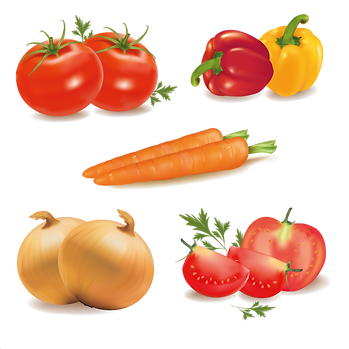 Carrot Pepper Onion  | Food clipart free download -size 2400x2400 300ppi