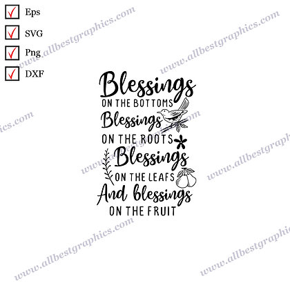 Blessings on the Bottoms | Cool Sayings Christmas Decor Easy-to-Use Dxf Eps SVG