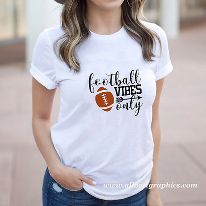 Football Vibes Only | Sassy Sport Quotes & Signs for Silhouette Cameo and Cricut