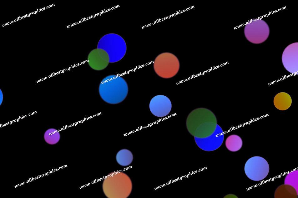 Wonderful Party Lights Bokeh Clip Art | Stunning Photoshop Overlays on Black