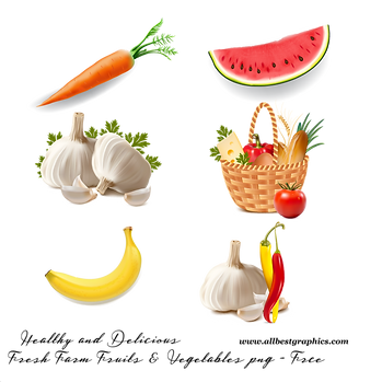 Awesome fresh farm and farm fruits & vegetables digital collection  - Food clipart png free download size - 2400x2400 300ppi