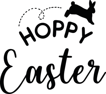 Hoppy Easter | Happy Easter and Bunny Quotes & Signs Cut files in Svg Eps Dxf