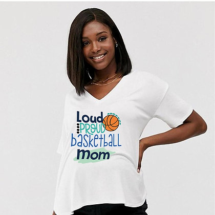 Loud Proud Baskball Mom | Cool Mom Quotes & Signs Cut files in Eps Dxf Svg