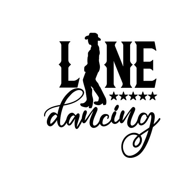 Line dancing Png | Free download Iron on Transfer Cool Quotes T- Shirt Design in Png
