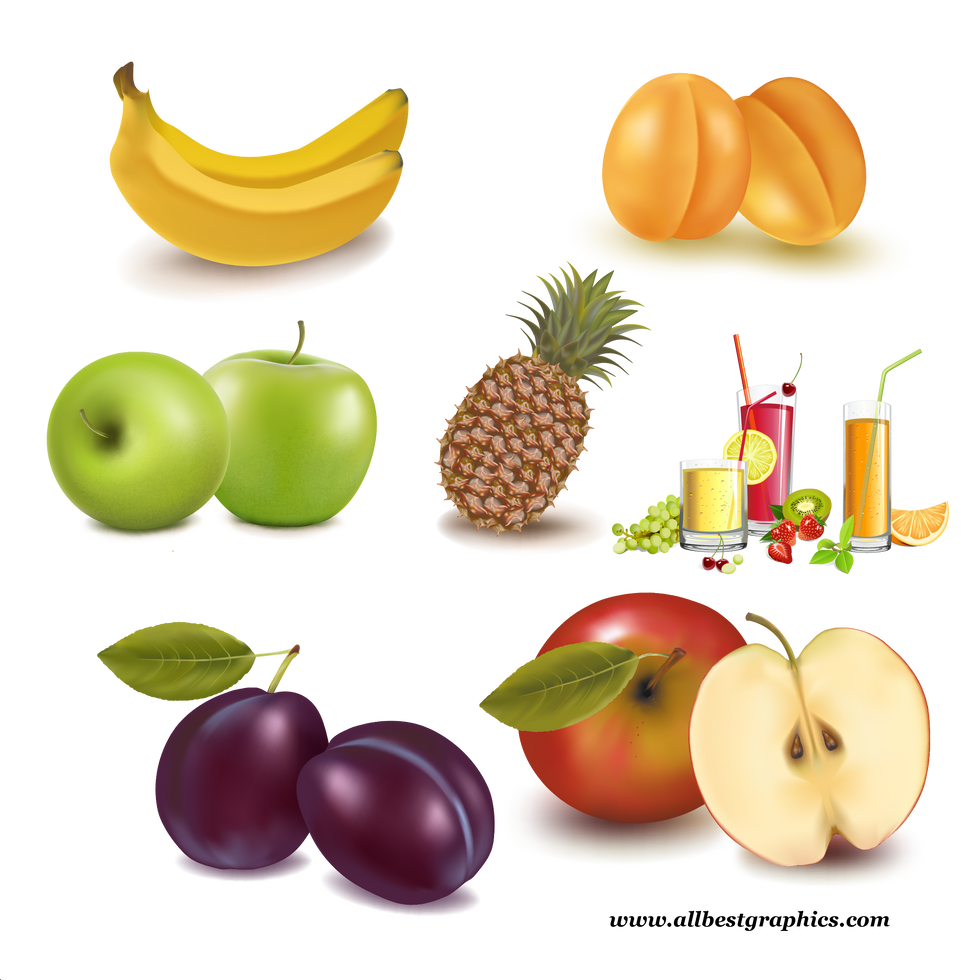 Gorgeous Healthy & Exotic Fresh Farm Fruits and Vegetables   Food clipart png free download