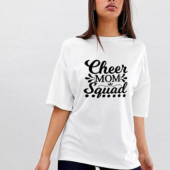 Cheer Mom Squad | Brainy Mom Quotes & SignsCut files inSvg Dxf Eps