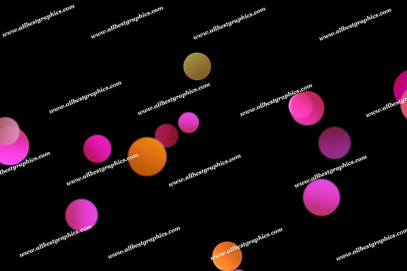 Colorful Soft Lights Bokeh Background   Excelent Photoshop Overlay on Black