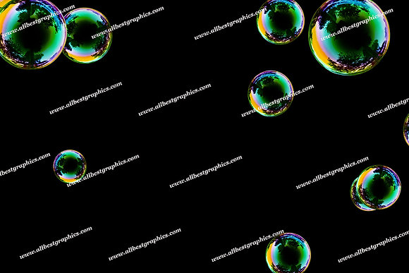 Natural Bathroom Bubble Overlays   Fantastic Photo Overlays on Black