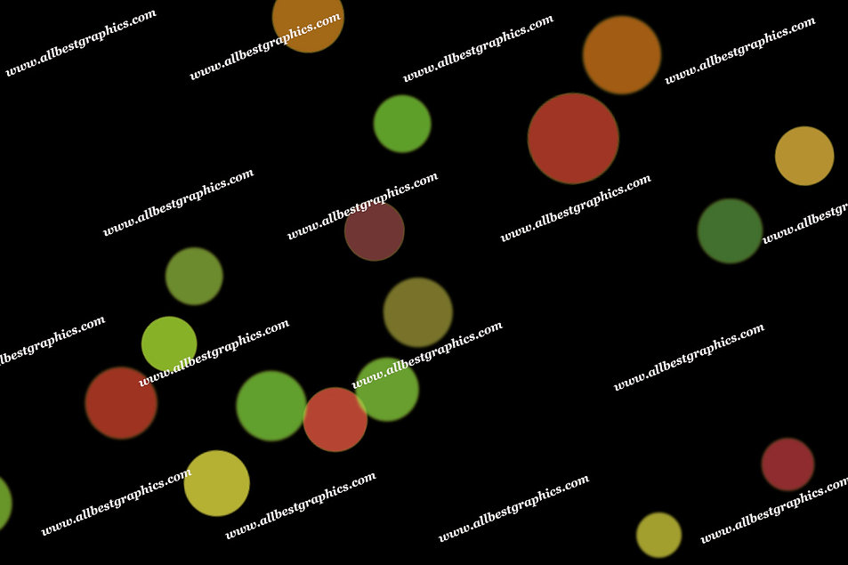 Delightful Holiday Lights Bokeh Background | Elegant Photo Overlay on Black