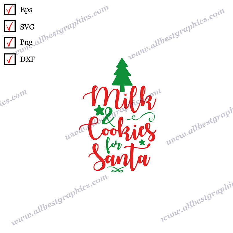 Milk & Cookies for Santa | The Best Cool Sayings Christmas Decor Ready-to-Use