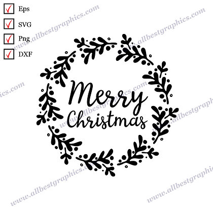 Merry Christmas   Best Cool Sayings Christmas Design Hand-Lettering Cut files