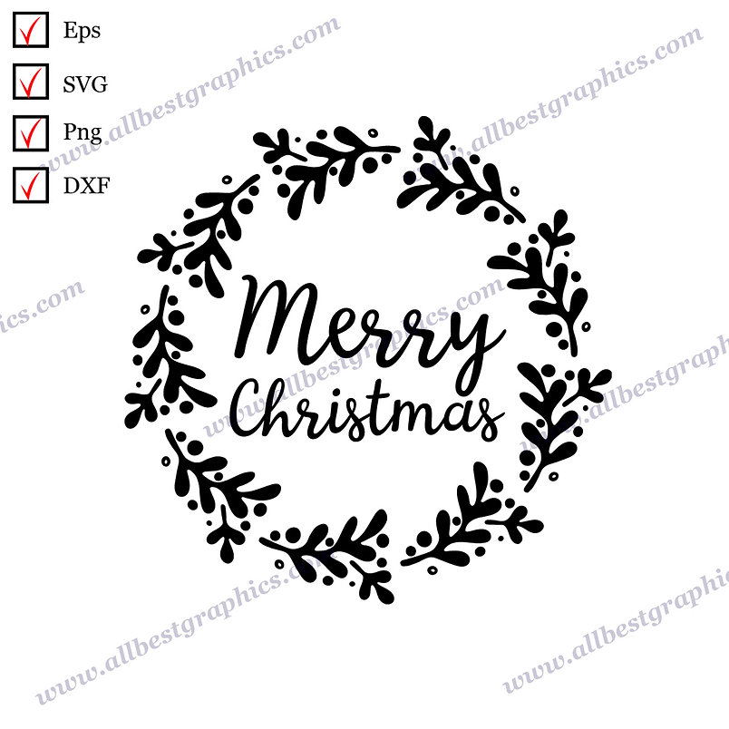 Merry Christmas | Best Cool Sayings Christmas Design Hand-Lettering Cut files
