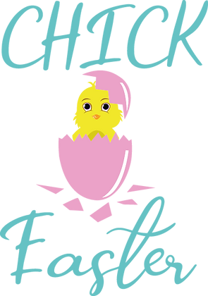 Chick Easter | Happy Easter and Bunny Quotes & Signs Cut files in Svg Eps Dxf