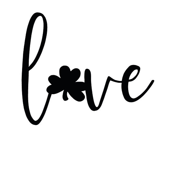 Love clover Png | Free Iron on Transfer Slay & Silly Quotes T- Shirt Design in Png
