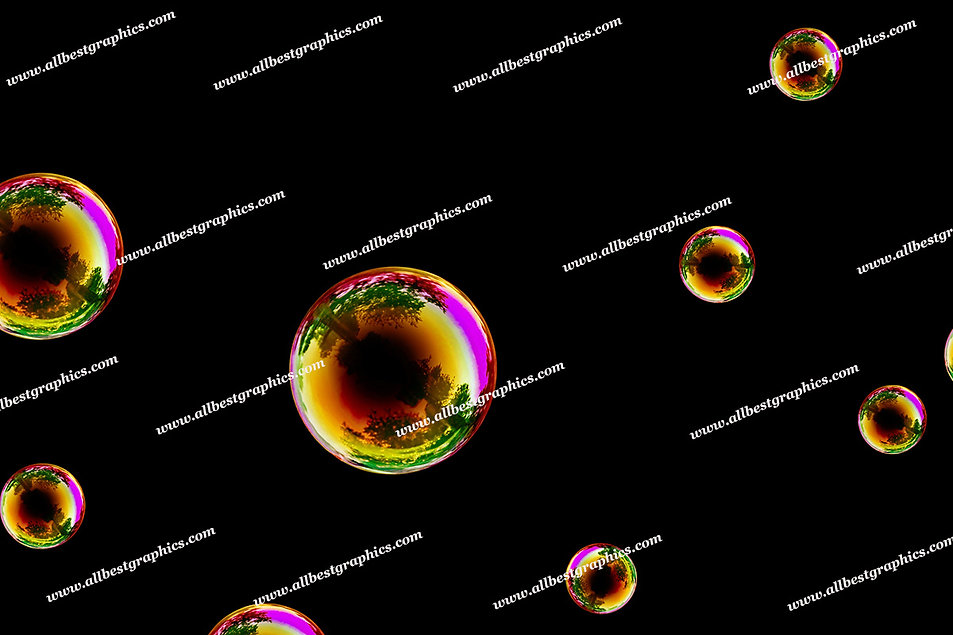 Spring Air Bubble Overlays | Unbelievable Photo Overlays on Black