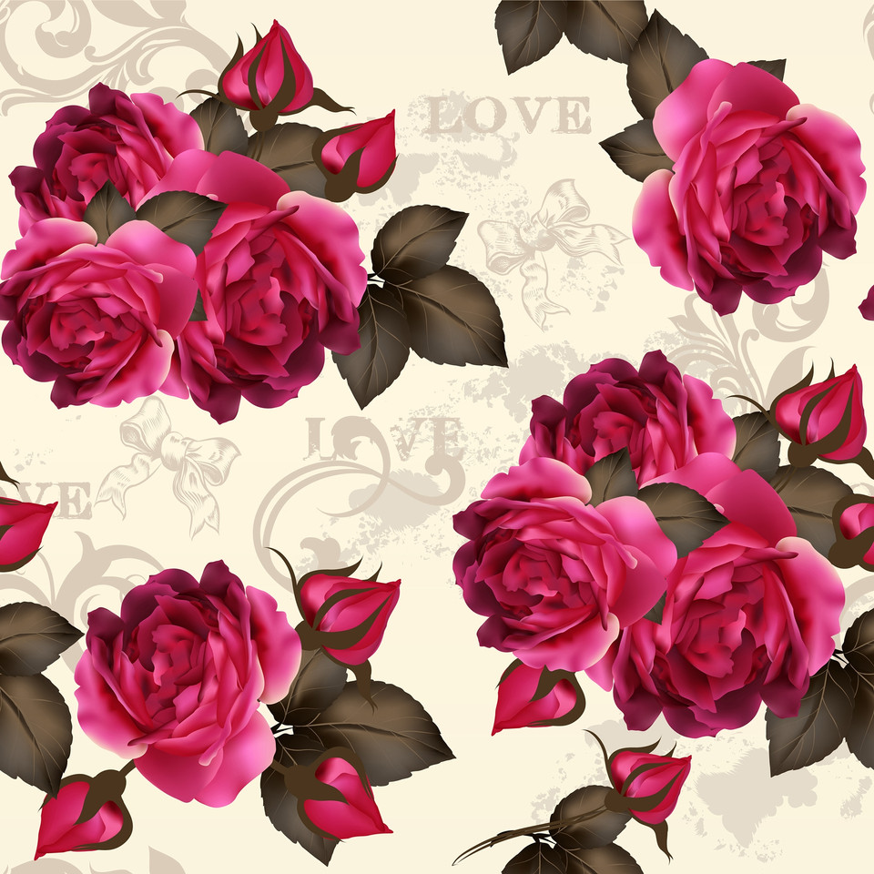 Luxurious peonies digital paper with seamless design | Hand Painted Papers