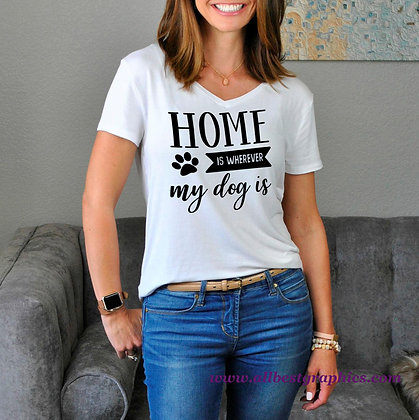 Home Is Wherever My Dog Is | Cool Quotes & Signs about Pets in Eps Svg Png Dxf