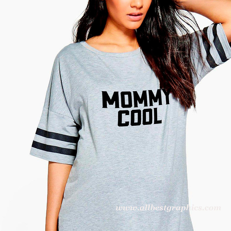 Mommy cool | Brainy T-Shirt Quotes Cut files in Dxf Svg Eps