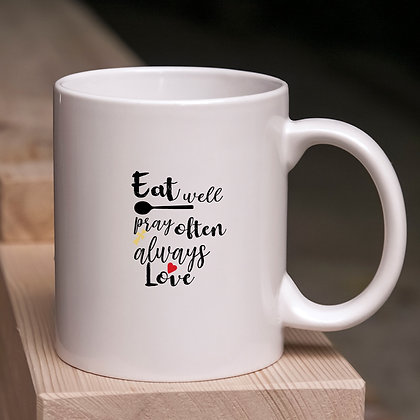 Eat Well Pray Often Always Love | Cool Kitchen Sign in Eps Svg Png Dxf