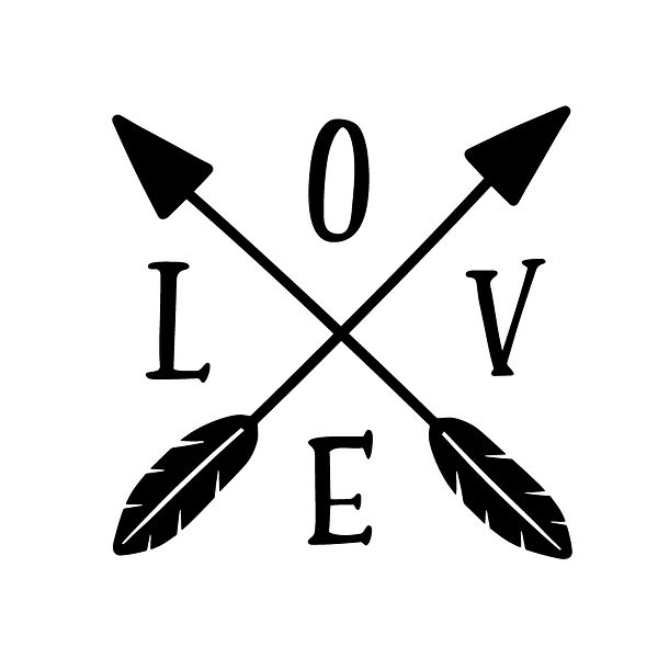 Crossed arrows love Png | Free Iron on Transfer Slay & Silly Quotes T- Shirt Design in Png