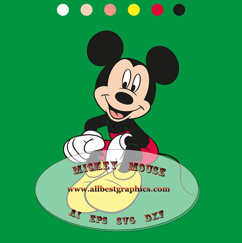 Happy Mickey Mouse with his girl friend | Disney clipart - Eps Ai Png cut files