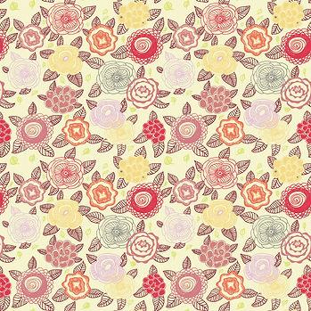 Spring floral digital paper with roses   Scrapbook Paper
