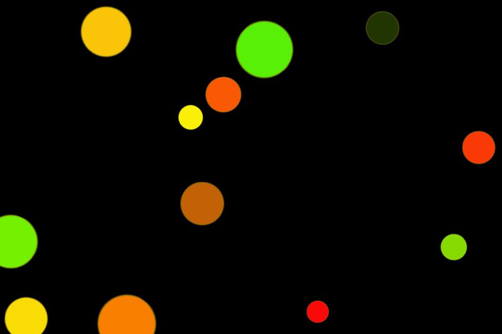 Romantic Night Light Bokeh Clipart on black background | Free Overlays
