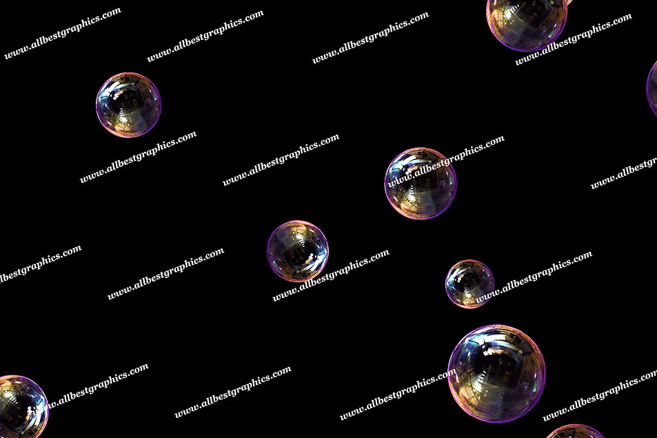 Natural Blowing Bubble Overlays | Fantastic Photoshop Overlays on Black