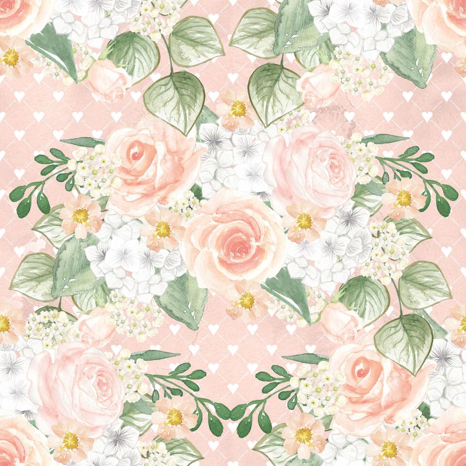Luxury watercolor digital paper with pastel flowers | Party Digital Paper