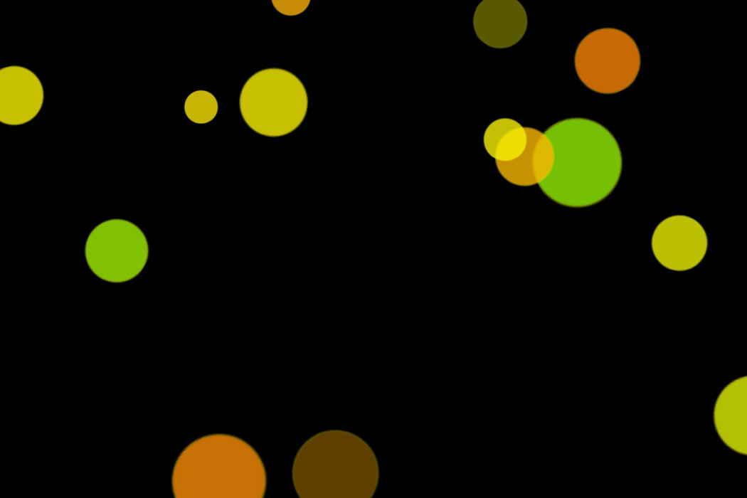 Realistic Holiday Light Bokeh Clipart on black background | Free Download