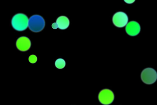 Romantic Christmas Light Bokeh Clipart on black background | Photoshop Overlays