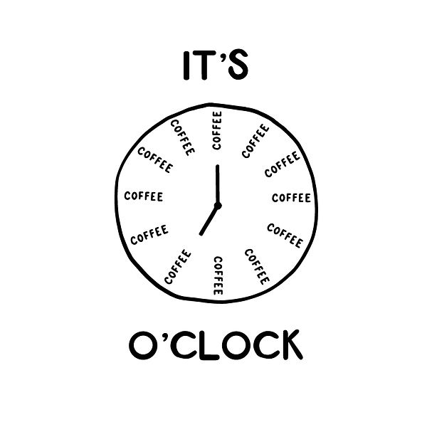 It's coffee o'clock Png   Free download Iron on Transfer Sarcastic Quotes T- Shirt Design in Png