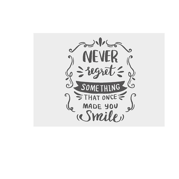 Never forget something that once made you smile  Png   Free download Printable Cool Quotes T- Shirt Design in Png