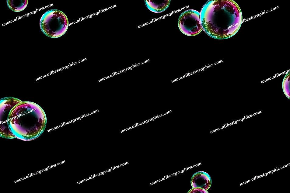 Awesome Rainbow Bubble Overlays | Fantastic Photoshop Overlays on Black