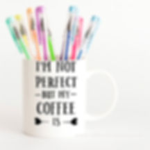 I'm Notperfect but My Coffee Is | Funny Coffee Quotes Cut files in Dxf Svg Eps