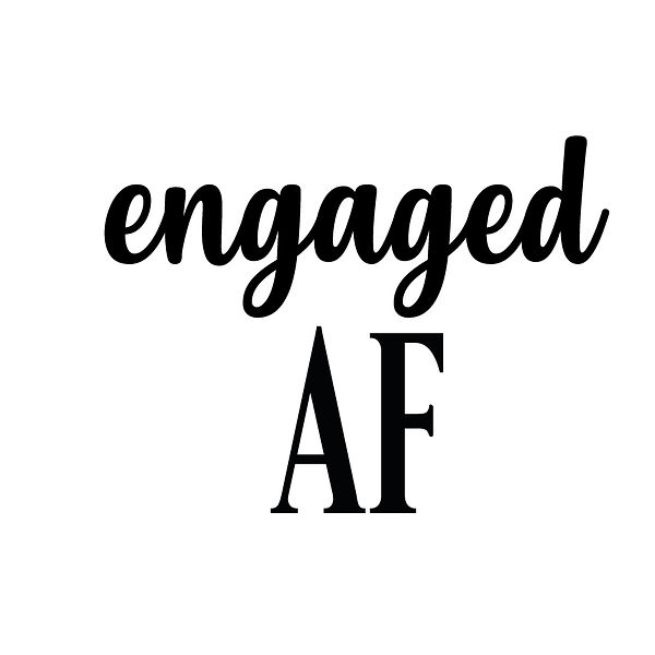 Engaged AF | Free download Iron on Transfer Cool Quotes T- Shirt Design in Png