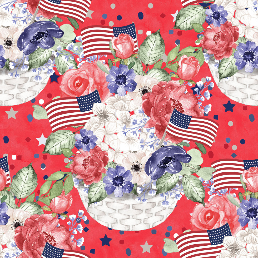 Great 4th of July Patriotic background   Invitation Digital Paper