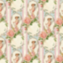 Shabby chic floral digital paper with roses | Handmade Digital Paper