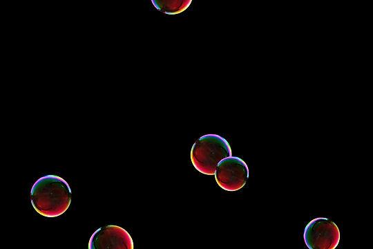 Wonderful colorful soap bubbles on black background   Photo Overlays
