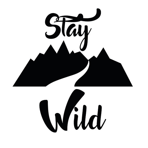 Stay wild | Free Printable Sarcastic Quotes T- Shirt Design in Png