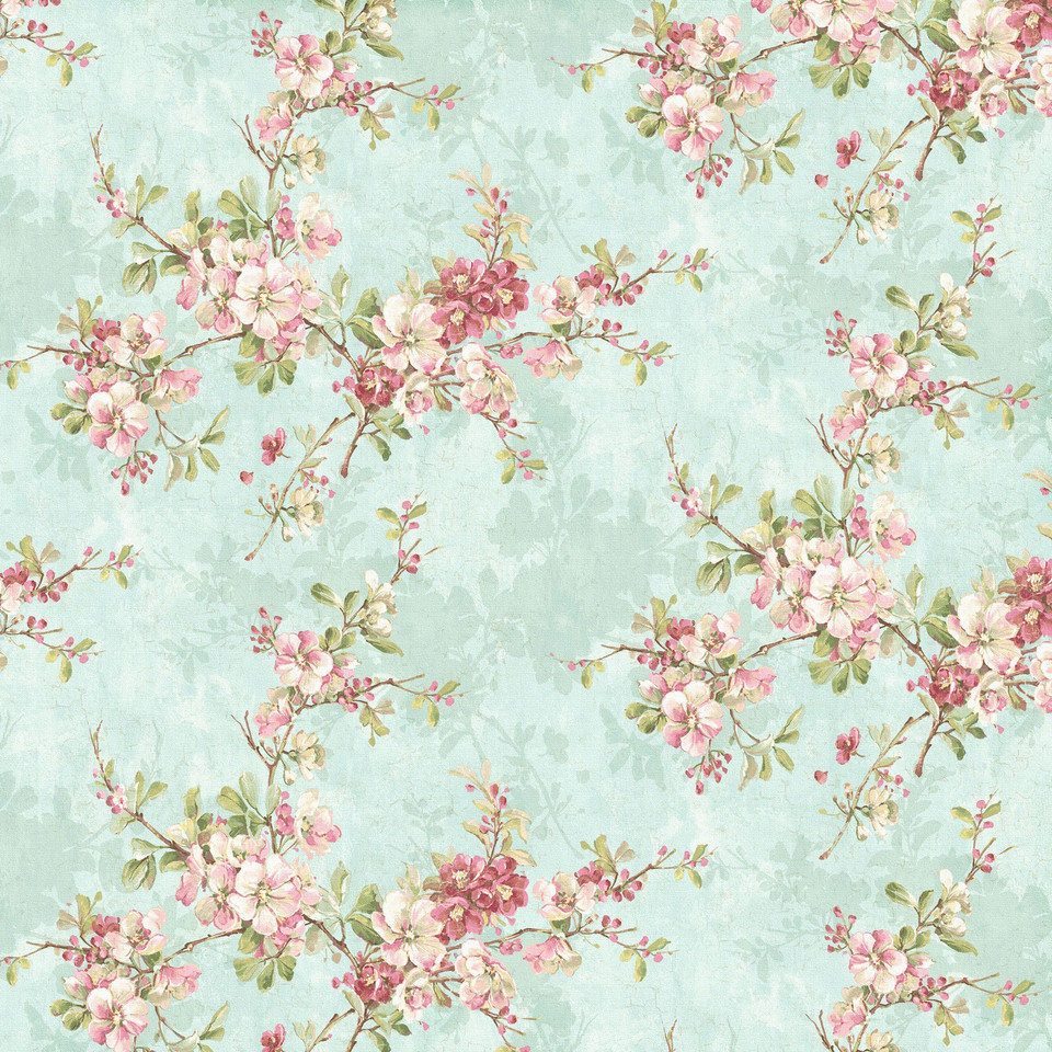 Shabby chic floral digital paper with roses   Hand Painted Paper
