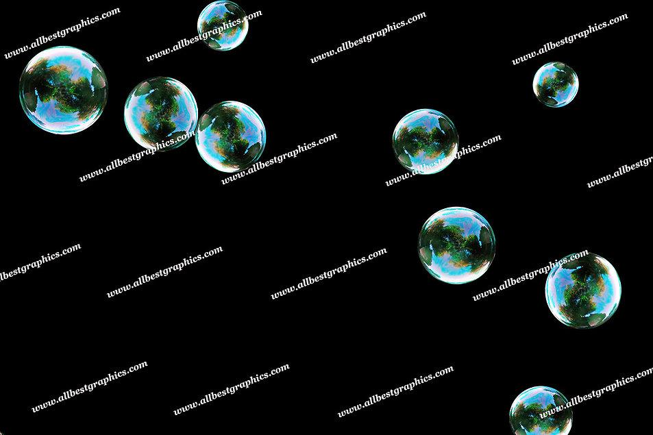 Whimsical Colorful Bubble Overlays | Incredible Photoshop Overlay on Black
